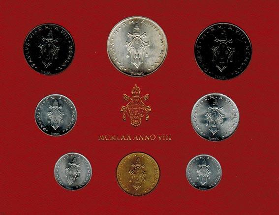 Paul Vi (1963 1978) Vatikan Kms (lira 500 Lire) 1970