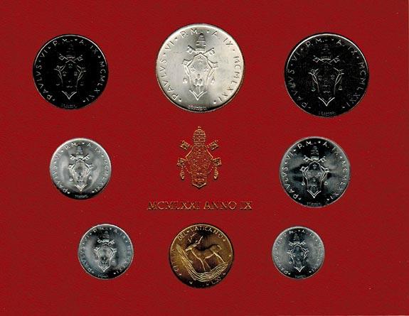 Paul Vi (1963 1978) Vatikan Kms (lira 500 Lire) 1971