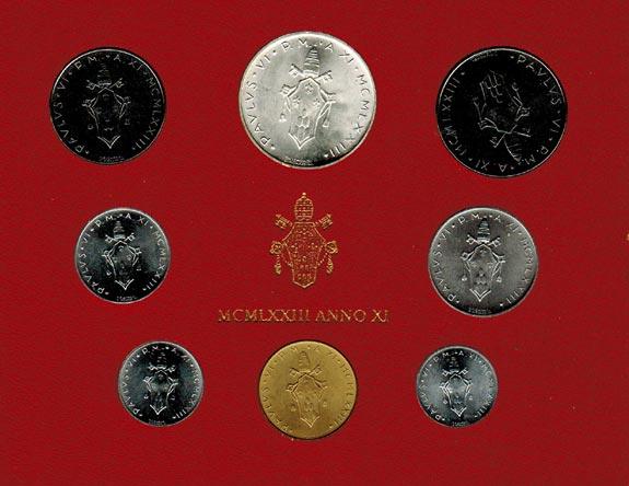 Paul Vi (1963 1978) Vatikan Kms (lira 500 Lire) 1973