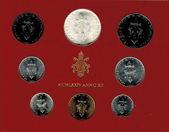 Paul Vi (1963 1978) Vatikan Kms (lira 500 Lire) 1974