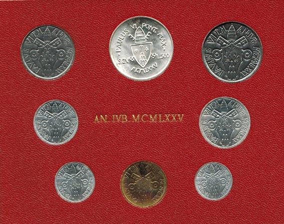 Paul Vi (1963 1978) Vatikan Kms (lira 500 Lire) 1975