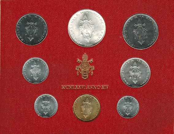 Paul Vi (1963 1978) Vatikan Kms (lira 500 Lire) 1976