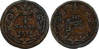 1/2 Soldo (Graz für Görz) 1736 RDR Karl VI...
