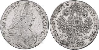 Taler 1772 A-S Ha RDR Maria Theresia (1740...