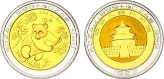 """10 Yuan1 1992 China """"Panda"""" pp. ..."""
