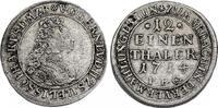 """Deutschland - Sachsen - Meiningen 1/12 Taler Ernst Ludwig (1706 - 1724) """"Vermählung"""""""