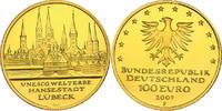 100 Euro (1/2 oz) 2007 A Deutschland UNESCO - Welterbe - Hansestadt Lüb... 700,00 EUR  zzgl. 9,90 EUR Versand