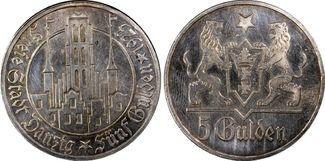 5 Gulden 1923 (Utrec Danzig Weimar Danzig ...