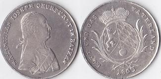 Taler, 1803, Deutschland, Bayern,Maximilia...