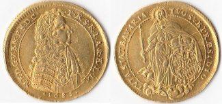 Deutschland, 2 Dukaten, 1685, vorzüglich,R...