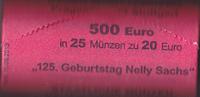 25 mal 20 Euro,Originalrolle, 2016, BRD, Nelly Sachs, stempelglanz,  580,00 EUR  Excl. 10,00 EUR Verzending