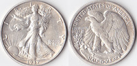 Half Dollar, 1937, USA, Liberty Walking Type 1916-1947, vz.,  40,00 EUR