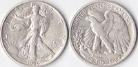 Half Dollar, 1936 D, USA, Liberty Walking Type 1916-1947, fvz.,  40,00 EUR