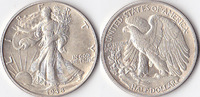 Half Dollar, 1938, USA, Liberty Walking Type 1916-1947, vz.,  50,00 EUR