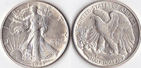 Half Dollar, 1943, USA, Liberty Walking Type 1916-1947, vz+,  50,00 EUR