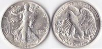 Half Dollar, 1942 s, USA, Liberty Walking Type 1916-1947, vz+,  50,00 EUR
