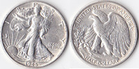 Half Dollar, 1945 S, USA, Liberty Walking Type 1916-1947, vz,  45,00 EUR