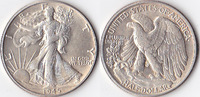 Half Dollar, 1945 , USA, Liberty Walking Type 1916-1947, vz,  45,00 EUR