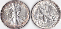 Half Dollar, 1944 S, USA, Liberty Walking Type 1916-1947, vz,  45,00 EUR
