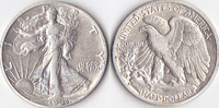 Half Dollar, 1941 D, USA, Liberty Walking Type 1916-1947, fvz,  25,00 EUR