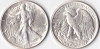 Half Dollar, 1941 , USA, Liberty Walking Type 1916-1947, vz-st,  50,00 EUR