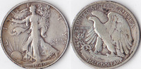 Half Dollar, 1940 S, USA, Liberty Walking Type 1916-1947, schön,  12,00 EUR