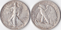 Half Dollar, 1939 S , USA, Liberty Walking Type 1916-1947, sehr schön,  20,00 EUR