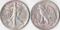 Half Dollar, 1939 D , USA, Liberty Walking Type 1916-1947, fvz,  25,00 EUR