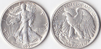 Half Dollar, 1939  , USA, Liberty Walking Type 1916-1947, vz,  35,00 EUR