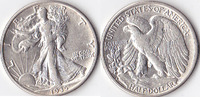 Half Dollar, 1935 S, USA, Liberty Walking Type 1916-1947, vz,  50,00 EUR