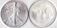 Ein Dollar, 1997 USA, Schreitende Liberty,Eine Unze Silber, stempelglanz,  23,00 EUR  Excl. 3,50 EUR Verzending