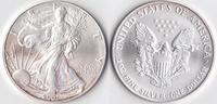 Ein Dollar, 2001 USA, Schreitende Liberty,Eine Unze Silber, stempelglanz,  23,00 EUR  Excl. 3,50 EUR Verzending