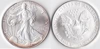 Ein Dollar, 1998 USA, Schreitende Liberty,Eine Unze Silber, stempelglanz,  23,00 EUR  Excl. 3,50 EUR Verzending