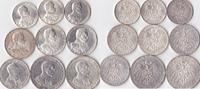 2 Mark-5 Mark,9 Stück, 1913/1914, Deutschland, Kaiserreich,Königreich P... 200,00 EUR  Excl. 5,00 EUR Verzending