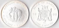 5000 Kwacha, 2000, Sambia Eine Unze Silber, st.,  80,00 EUR  Excl. 3,50 EUR Verzending