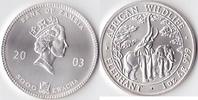 5000 Kwacha, 2003, Sambia Eine Unze Silber, st.,  80,00 EUR  Excl. 3,50 EUR Verzending