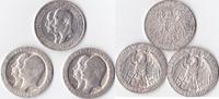 3 mal Drei Mark, 1910,1911, Deutschland, Kaiserreich,Königreich Preusse... 195,00 EUR  Excl. 5,00 EUR Verzending
