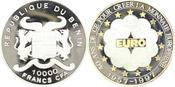 10000 Francs CFA 1997 Benin  In Kapsel. Po...