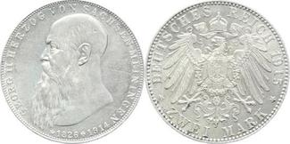 2 Mark 1915 Sachsen-Meiningen Georg II. 18...