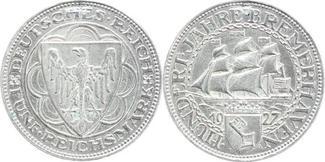 5 Reichsmark 1927  A Weimarer Republik  Ge...