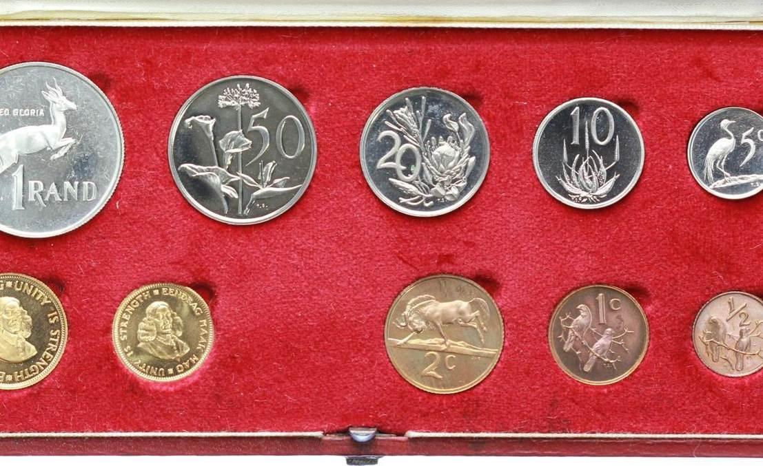 Republik 1960 Südafrika Kursmünzensatz Gold 1976