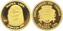 Republique du Congo seit 1992 Kongo (congo) Republik 1500 Francs Gold