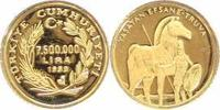 000 Lira Gold 1999 Türkei-Republik Republik seit 1923. Polierte Platte  65,00 EUR  plus 5,00 EUR verzending