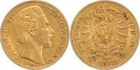 10 Mark Gold 1873  D Bayern Ludwig II. 1864-1886. Sehr schön  230,00 EUR  plus 5,00 EUR verzending