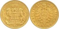 20 Mark Gold 1884  J Hamburg  Sehr schön  325,00 EUR  plus 5,00 EUR verzending