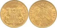 20 Mark Gold 1913  J Hamburg  sehr schön-vorzüglich  340,00 EUR  plus 5,00 EUR verzending