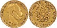 10 Mark Gold 1875  A Preußen Wilhelm I. 1861-1888. Sehr schön  190,00 EUR  plus 5,00 EUR verzending