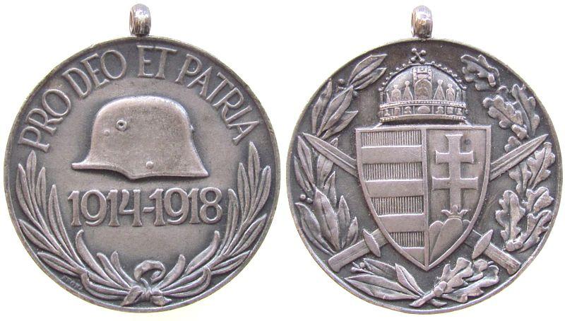 Tombak Pro Deo Et Patria / 1914-1918 für Frontkämpfer, Stahlhelm / St