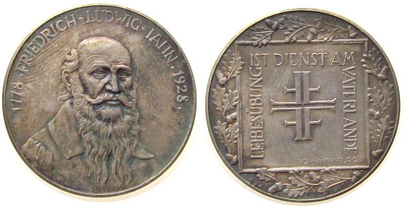 Silber Friedrich Ludwig Jahn (1778-1852), auf seinen 150 Geburtstag,