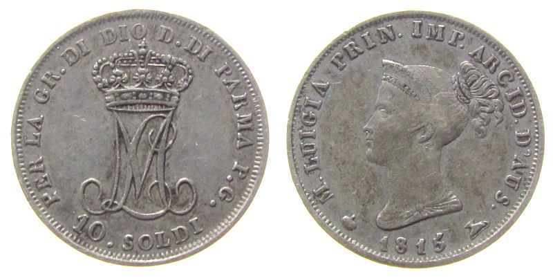 Ag Maria Luigia, Herzogtum Parma 10 Soldi 1815